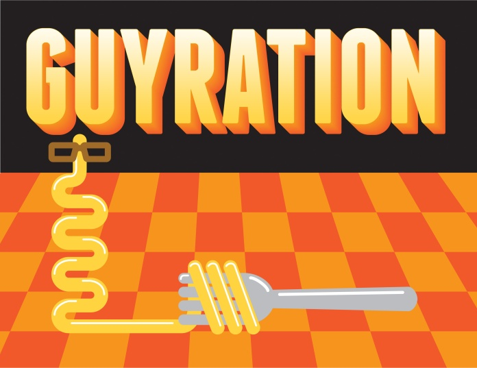 Guyration: (n.) The set of awkward swivels, juts, and pivots uncoordinated men do when required to dance.
